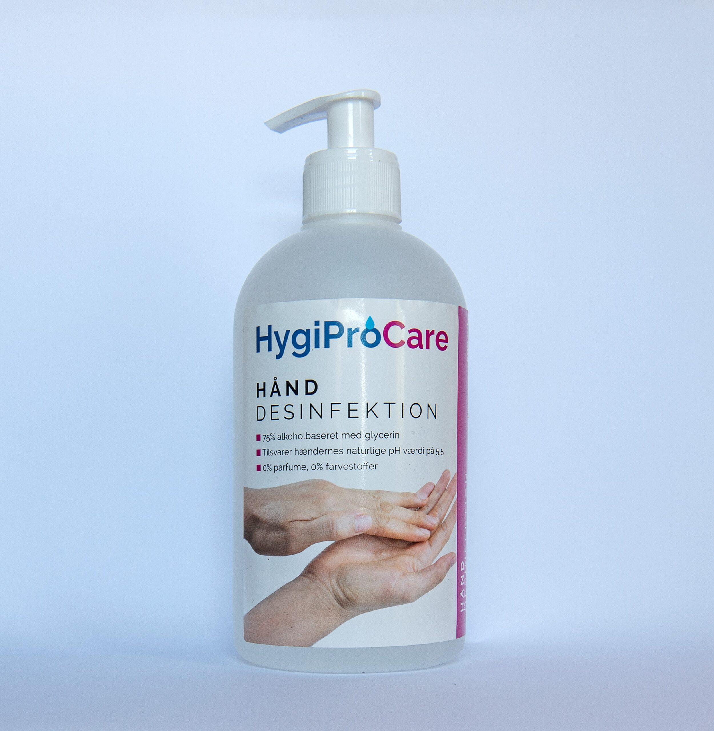 500 ml HygiProCare håndsprit hånddesinfektion