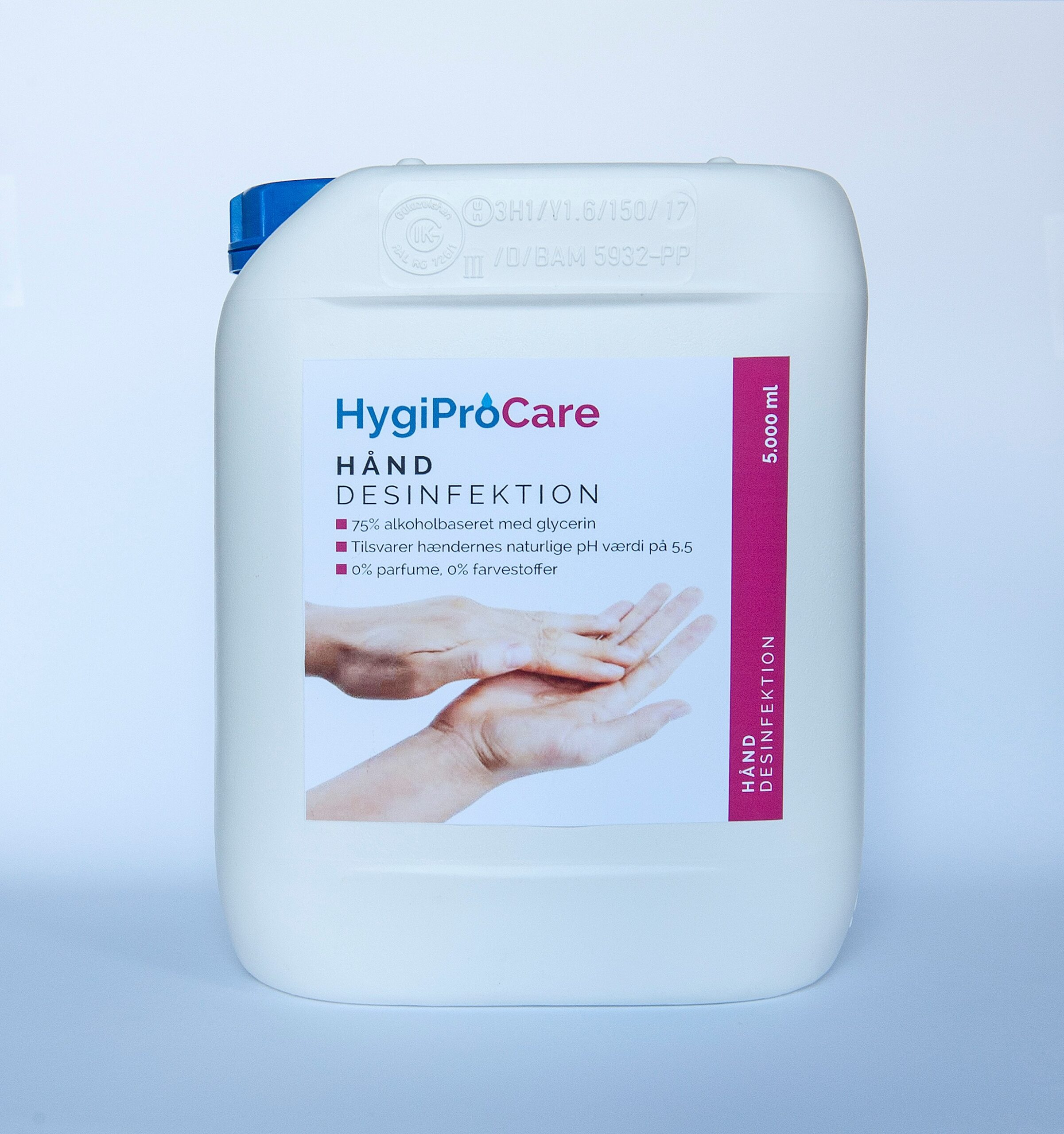 5000 ml HygiProCare håndsprit hånddesinfektion
